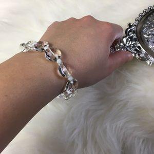 Jewelry - Swarovski Sparkle Glass Beaded Bracelet NWT
